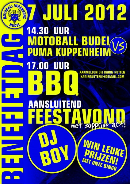 Motoball Vereniging Budel organiseert benefietavond